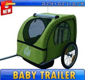 Frugah-NEW-Green-Elite-Single-Baby-Bike-Bicycle-Trailer-Journey