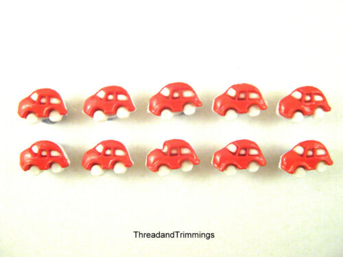 Baby VW Beetle Bug Car Buttons 12mm Childrens