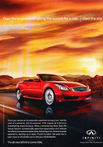 red Classic Advertisement Ad A59-B 2009 2010 Infiniti G37 convertible