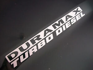 Pair DURAMAX TURBO DIESEL Emblem Sticker Decals L Chevy - Chevy duramax diesel decals