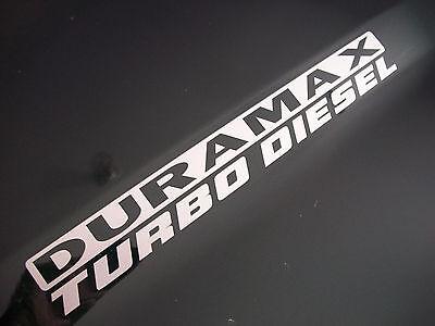 Pair DURAMAX TURBO DIESEL emblem sticker decals 6.6L Chevy Silverado 01 - 2018