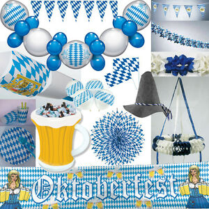 Oktoberfest dekoration bayern party bavaria blau weiss for Bayrische dekoration
