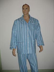 Herren-Schlafanzug-angerauht-Flanell-gewebt-klassisch-100-BW-Fa-Thieme