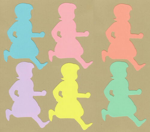 AccuCut Your choice of colors on Running Girls Die Cuts