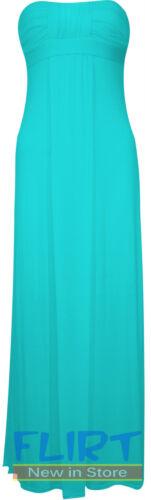 Womens Boobtube Bandeau Maxi Ladies KNOT FRONT Sleeveless Dress Summer Dresses