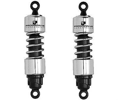 "Progressive 412 Shocks 13"" CHROME 2009-2010 Harley Davidson XL883N Iron 883"