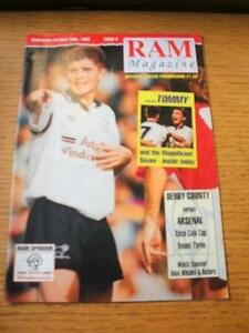 28101992 Derby County v Arsenal Football League Cup  No obvious faults unl - <span itemprop=availableAtOrFrom>Birmingham, United Kingdom</span> - Returns accepted within 30 days after the item is delivered, if goods not as described. Buyer assumes responibilty for return proof of postage and costs. Most purchases from business s - Birmingham, United Kingdom