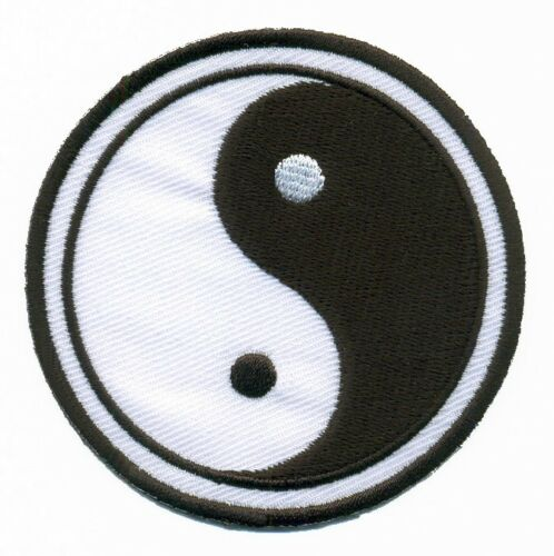 Yin Yang ying tao hippie retro boho weed embroidered applique iron-on patch S-92