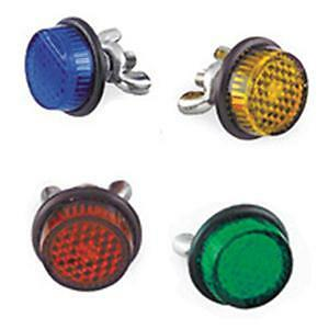 MOTORCYCLE-AUTO-LICENSE-PLATE-REFLECTORS-4-PACK-RED-BLUE-GREEN-AMBER-MADE-IN-USA