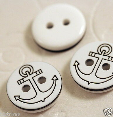 """US SELLER - 80 x 1/2"""" Laser Etched Anchor Baby 2-Hole Buttons/Sailor/Yatch SB205"""