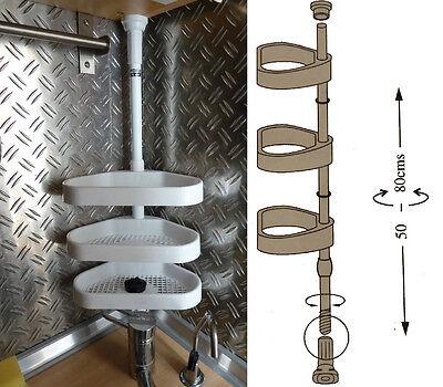 Küchenregal Eckregal Teleskopregal von 50 cm bis 80 cm verstellbar