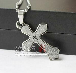 Men-Stainless-Steel-Army-Brand-Korean-Cross-Necklace