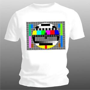Fun-T-Shirt-TV-Testbild-nur-weiss-Groessen-S-bis-XXL-bis-5XL-moeglich-3-EUR