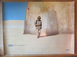 VINTAGE-1999-STAR-WARS-THE-PHANTOM-MENACE-BRITISH-QUAD-FILM-MOVIE-POSTER-V-GOOD