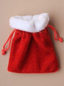 12-MINI-CHRISTMAS-RED-VELVET-GIFT-BAG-JEWELLERY-SANTA-SACK-0316-SWEETS-POUCH
