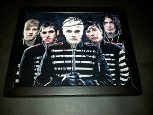 MY-CHEMICAL-ROMANCE-PP-BAND-SIGNED-amp-FRAMED-10-034-X8-034-INCH-PHOTO-REPRO