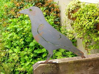 Cut Metal Rusty American Crow Bird Garden Home Yard Lawn Outdoor Tree Art Decor