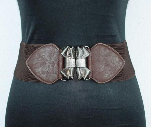 Gürtel Breiter Damengürtel Hüftgürtel Leder-LookTaillengürtel Metallverschluß#18