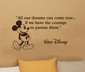 Disney-Mickey-Mouse-dreams-come-true-wall-quote-vinyl-wall-decal-sticker-brown