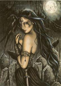 Jessica-Galbreth-Print-The-Morrigan-Fairy-Goth-Faery-Witch-Wicca-EU-A4-Giclee