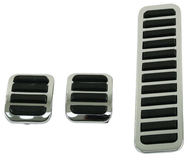 EMPI 4551 - CUSTOM CHROME PEDAL PADS VW RAIL DUNE BUGGY BUG GHIA BUS BAJA PARTS