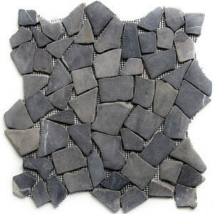 Grey Marble Mosaic Tile, 1 Sq. Ft. for Showers, Flooring & More!