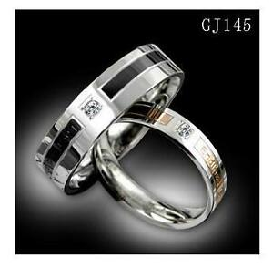 Classic-Exquisite-Titanium-Matching-Rings-Couple-Wedding-Bands-Many-Sizes-Gifts