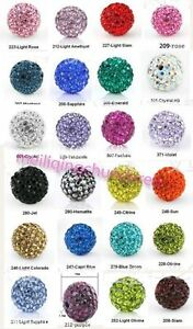 10pcs-Crystal-8MM-bead-FOR-Pave-Disco-Balls-U-choose-color