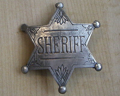 SHERIFF STAR BADGE BW - 71   WESTERN POLICE MARSHAL