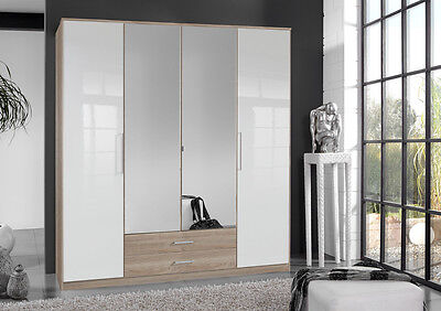 Qmax German Made Bedroom Furniture - Grande Wardrobe Range - Oak/White