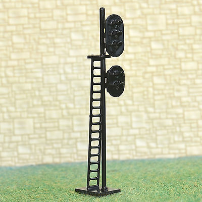 2 pcs HO Scale 1:87 LEDs Made 2 heads Railroad Signals 3 over 2 G/Y/R G/R #N