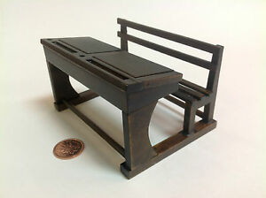 Old time school furniture miniature dollhouse student desk for L furniture warehouse victoria bc