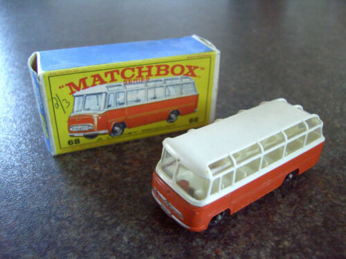 MATCHBOX  No 68 MERCEDES COACH 1965 BOXED 100% COMPLETE
