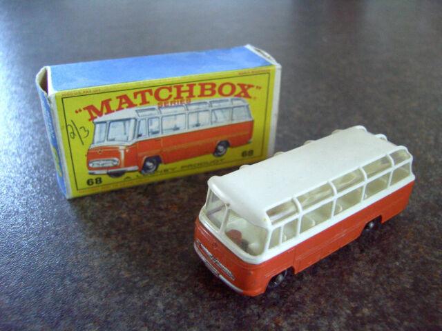 MATCHBOX  No 68 MERCEDES COACH 1965 BOXED 100% COMPLETE