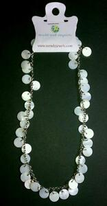 NEW-World-End-Imports-Pearl-Opalish-Chain-Earth-BEADED-SHELL-PENDANTS-NECKLACE