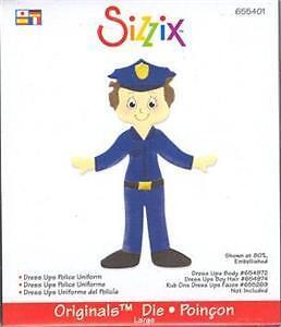 Sizzix Originals DRESS UPS POLICE OFFICER GIRL or BOY