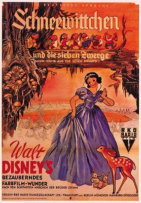 Snow White and the Seven Dwarfs (1937) Disney cartoon movie poster print  7
