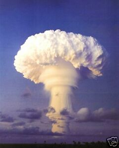 atomic bomb test nuclear mushroom cloud 11 x 14 photo. Black Bedroom Furniture Sets. Home Design Ideas