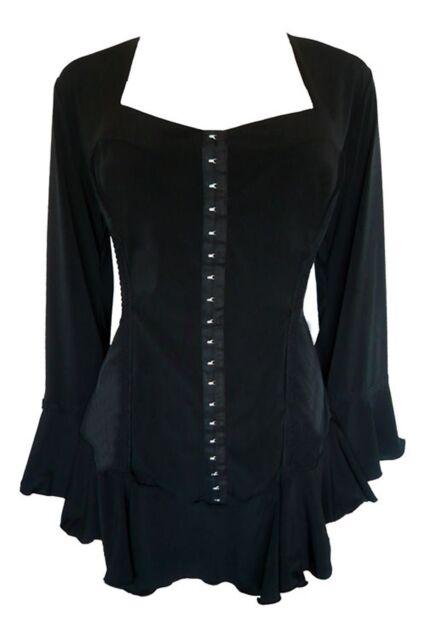 Dare to Wear CORSETTA Corset Top BLACK Size 1X 2X 3X 4X 5X  MSRP $70