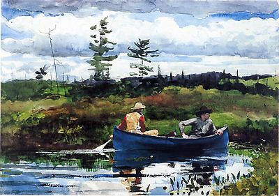 Winslow Homer Watercolor Reproductions: The Blue Boat: Fine Art Print