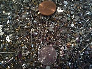 Steampunk-1-4-Pound-LB-WATCH-GLITTER-Extra-Tiny-Watch-Parts-Gears-Jewels-LOT