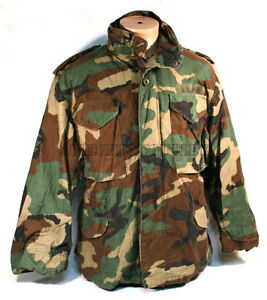 USGI-Military-Army-Woodland-Camo-M-65-M65-Field-Coat-Jacket-Small-Regular-NICE