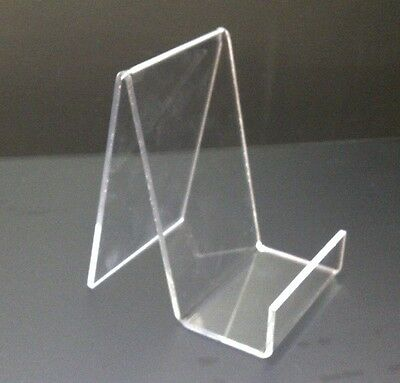 1 x SMALL ACRYLIC BOOK STAND PERSPEX RETAIL DISPLAY STAND PLATE HOLDER