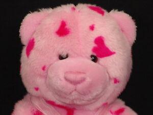 GUND HEADS AND TALES PINK HEART VALENTINE PLUSH TEDDY BEAR STUFFED ANIMAL TOY