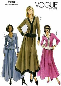 Vogue-7796-Fitted-Top-amp-Loose-fit-Flared-Skirt-w-Shaped-Hem-Sewing-Pattern