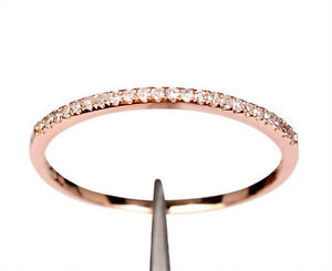 VS-DIAMOND-SOLID-14K-ROSE-GOLD-PAVE-WEDDING-HALF-ETERNITY-BAND-RING-Thin-Design