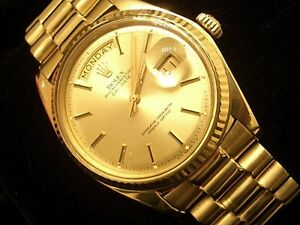 Mens-18k-Gold-Rolex-Day-Date-President-Watch-Champagne