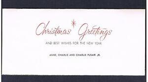 1950-60-039-s-Charlie-Fusari-Christmas-card-boxing-boxer-fought-Sugar-Ray-Robinson