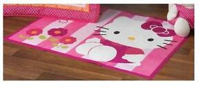 itm Lambs Ivy Hello Kitty Garden Rug Pink For Baby Nursery With Anti Slip Cute