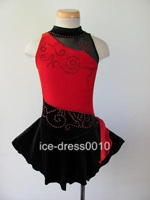 Exclusive Figure Skating custom Ice Skating Dress Brand New #5516-1 size  S